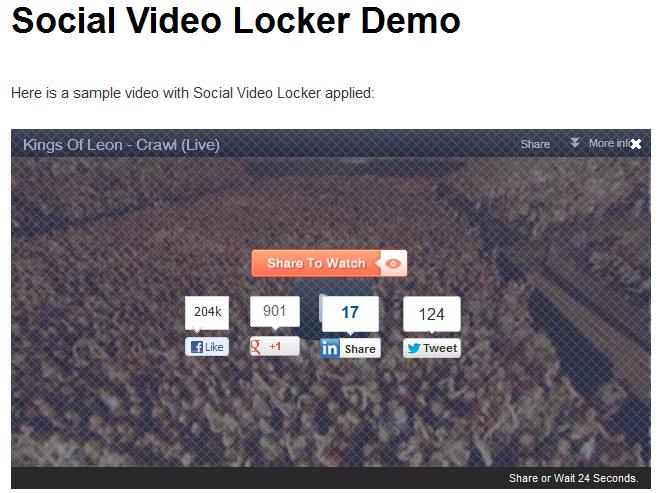 Social Video Locker WordPress