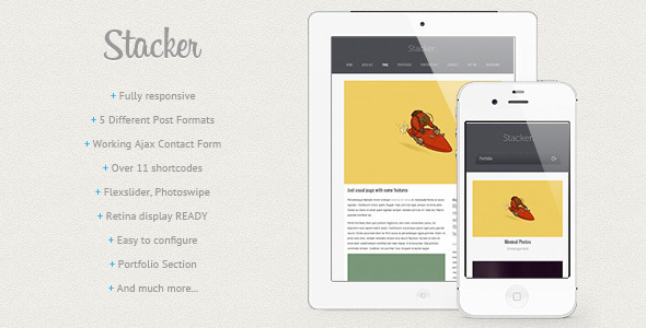 Stacker - Responsive WordPress Theme
