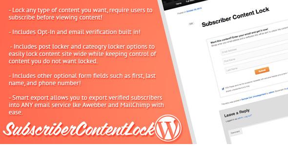 Subscriber Content Lock for WordPress