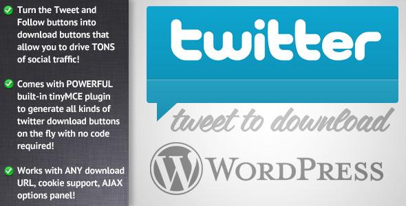 Tweet to Download for WordPress
