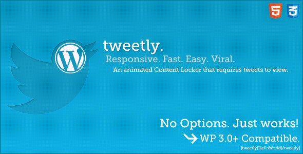 Tweetly - Stylish Tweet To Unlock WordPress Plugin