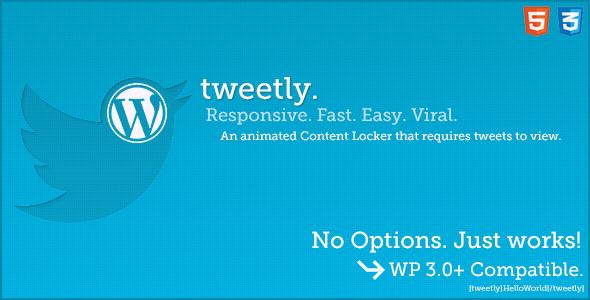 Tweetly - Stylish Tweet To Unlock WordPress Plugin