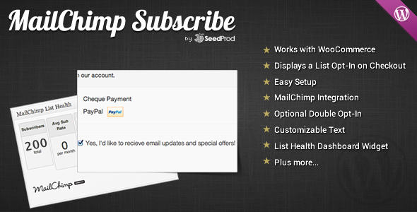 WooCommerce MailChimp Subscribe - WordPress Plugin