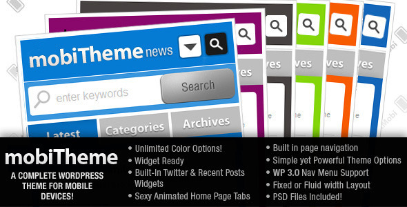 mobiTheme - WordPress Theme for Mobile Devices