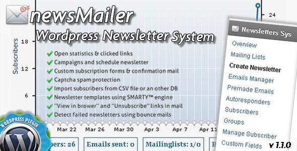 newsMailer - WordPress Newsletter System Plugin