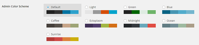 Admin Colour Scheme WordPress 3.8