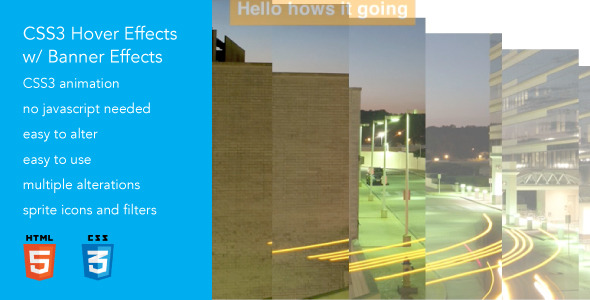 Advanced CSS3 Hover Effects 5 w Banners
