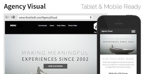 Agency Visual Portfolio Agency Video Muse Theme
