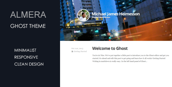 Almera Minimalist Responsive Ghost Theme