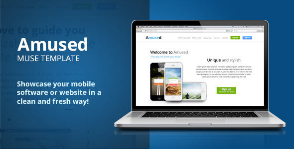 Amused Adobe Muse Template