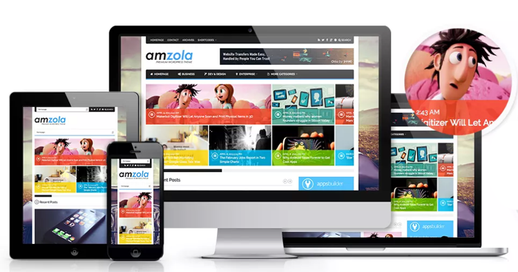 Amzola WordPress Theme