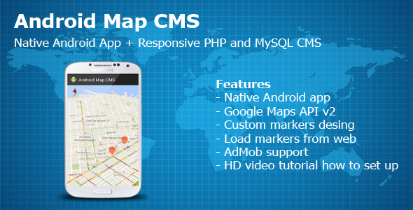 Android Map CMS