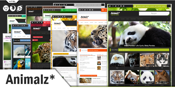 Animalz - Eco/Green Environmental HTML Template