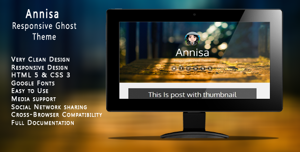 Annisa - Responsive Ghost Theme