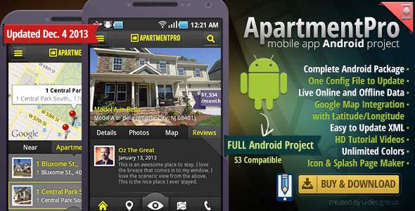 Apartment Real Estate Android Full App Source Code