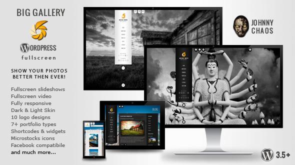 BIG Gallery WP - Fullscreen Photography Portfolio