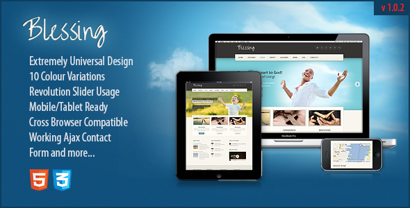 Blessing Responsive HTML5 CSS3 Template