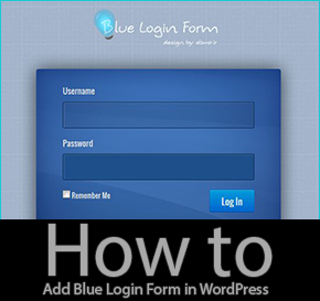 How to Add Blue Login Style Form in WordPress
