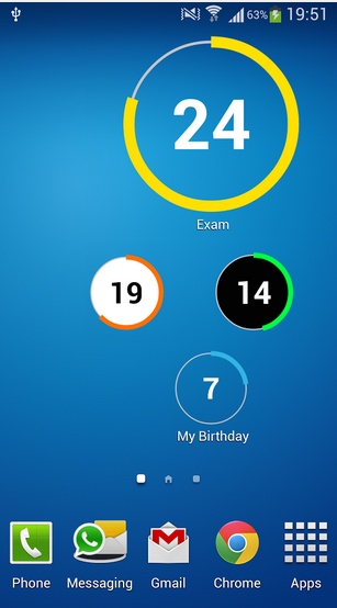 Bubbles like CountDown Widget Android