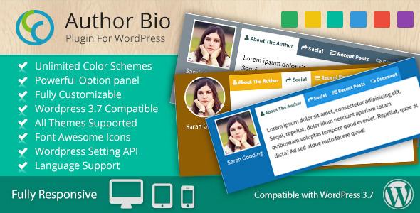 CCR Author Bio - Multi-Use Responsive WP Plugin
