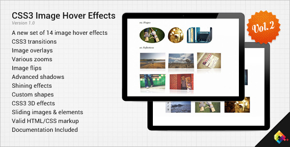CSS3 Image Hover Effects Vol 2