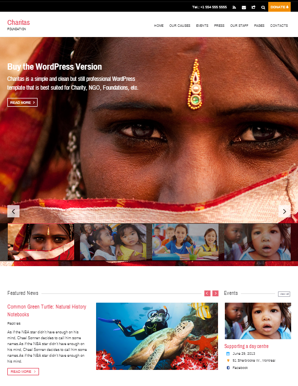 Charitas Foundation HTML Template