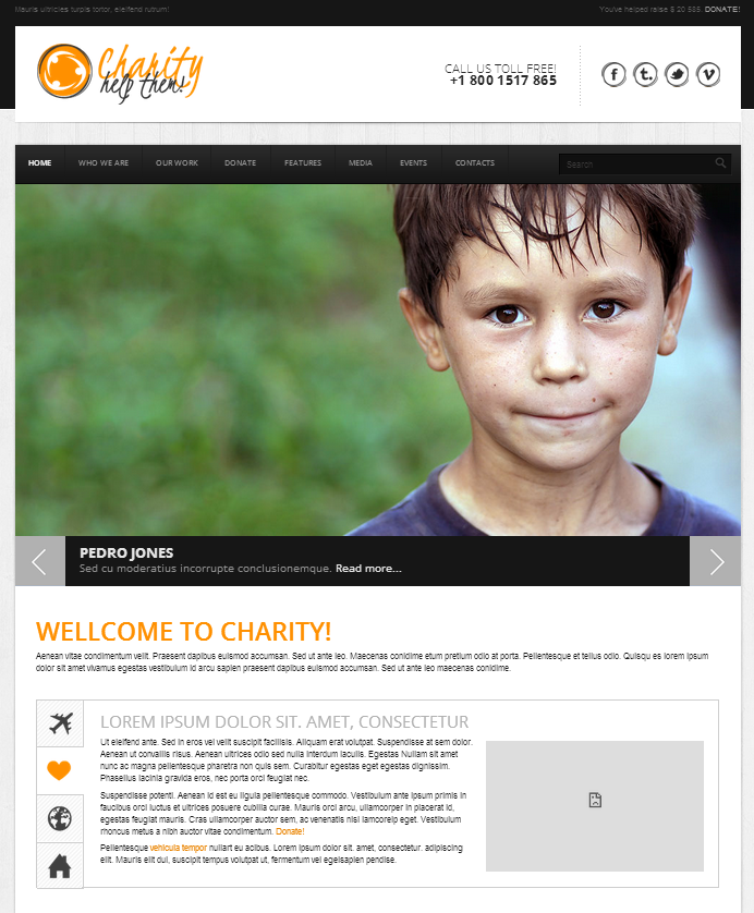 Charity HTML5/CSS3 Website Template