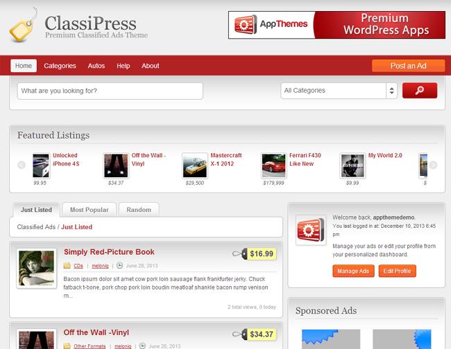 ClassiPress Theme