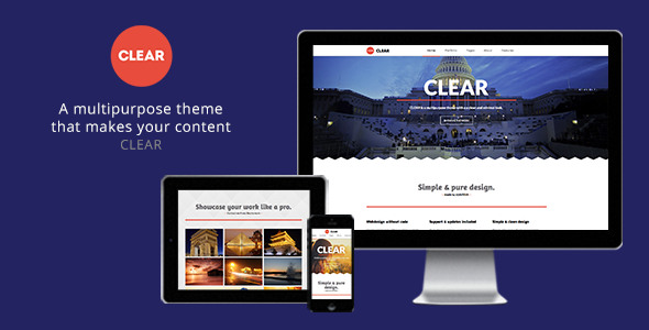 Clear - Multipurpose Muse Theme