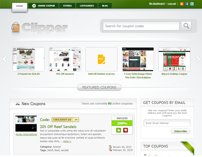 Clipper WordPress Coupon Theme
