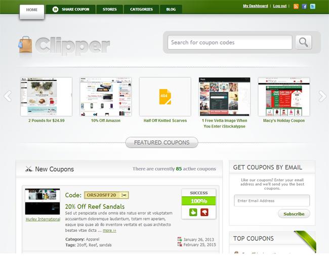 Clipper WordPress Coupon Theme