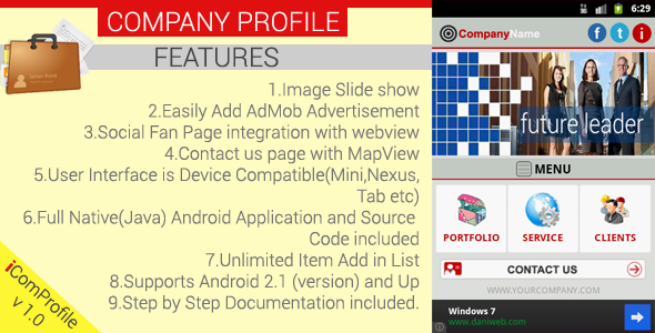 Company Profile Android App Template