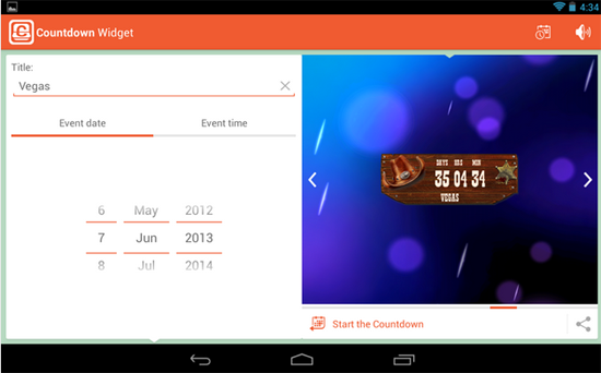 Countdown Widget Android