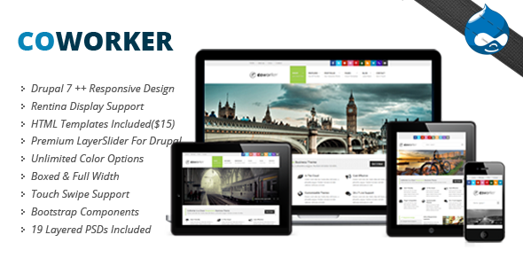 Coworker - Responsive Drupal Theme