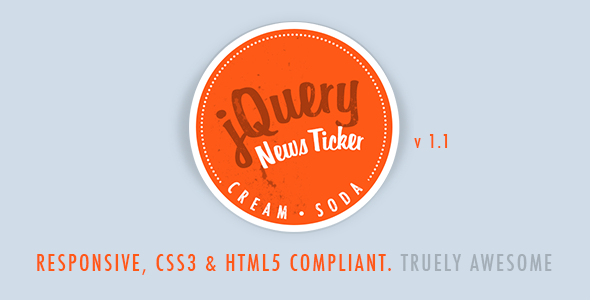 Cream Soda - Responsive jQuery News Ticker