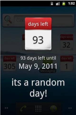 Days Left Widget Android