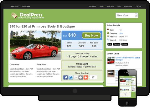 DealPress Group Buying Theme