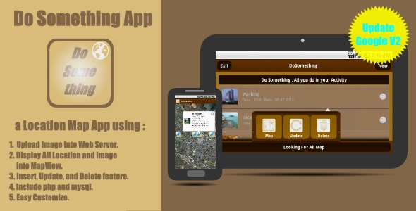 Do Something App a Location Map Application