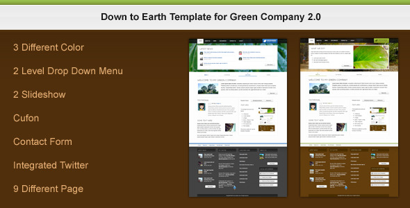 Down to Earth Template for Green Company 2.0