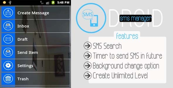 Droid Customize SMS Manager