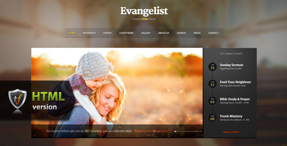 Evangelist - Church HTML Theme