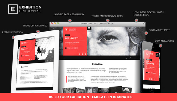 Exhibition WP - Photography Art Landing page