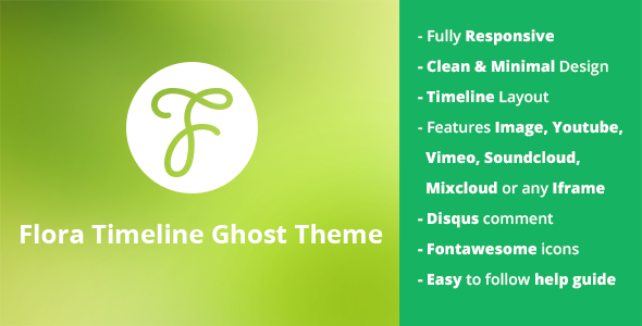 Flora - Responsive Timeline Ghost Theme