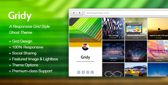 Gridy A Responsive Grid Style Ghost Theme
