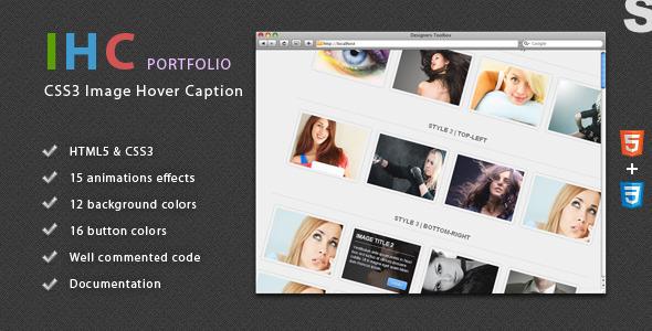 IHC - Portfolio CSS3 Image Hover Caption