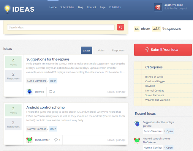 Ideas WordPress Theme