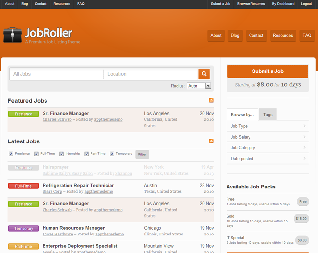 JobRoller WordPress Theme