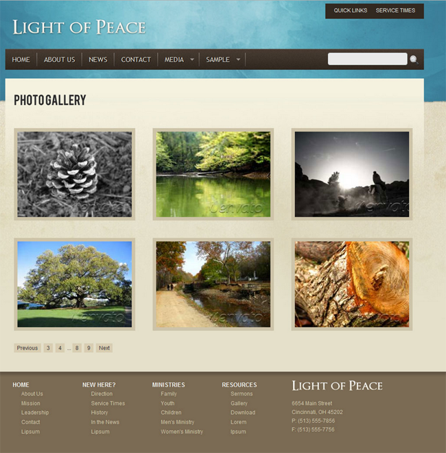 Light of Peace Church HTML Template