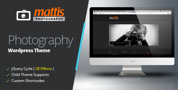 Mattis Photography WordPress Theme
