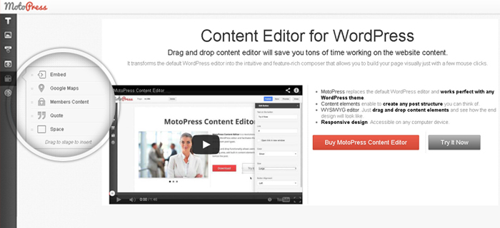 MotoPress Content Editor for WordPress Screenshot